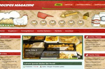 Recipes-Magazine-Blogger-Template