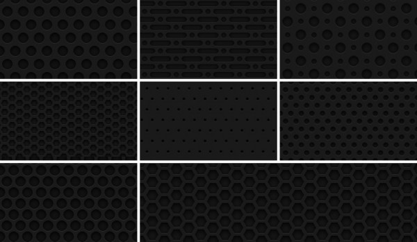 8-Seamless-Dark-Metal-Grid-Patterns