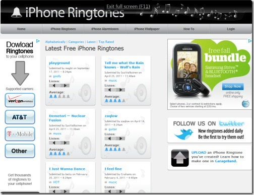 Website free ringtones for iphone jailbreak