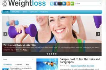 WeightLoss-Free WordPress Theme