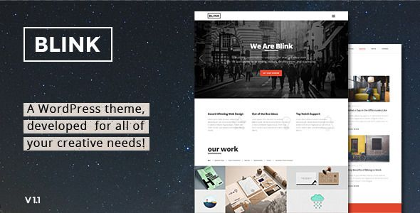 Blink Parallax One Page WordPress Theme
