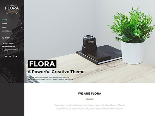 Flora Responsive Creative WordPress Theme