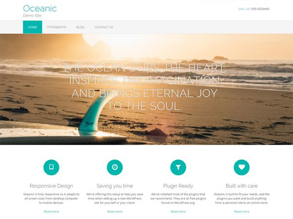 Oceanic Free WordPress Theme