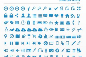 Blue Icon Set 2
