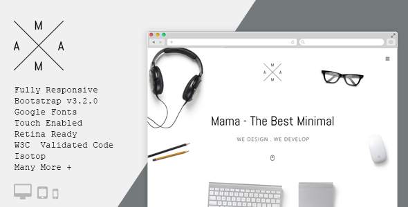 mama Minimal Portfolio WordPress Theme