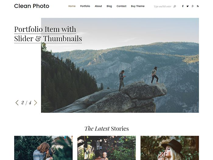 Clean Photo Photography Portfolio WordPress Theme