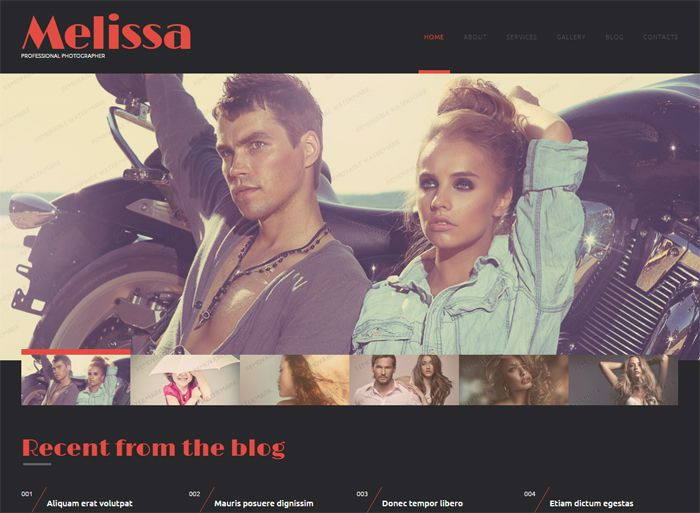 Melissa Free WordPress Photography Theme