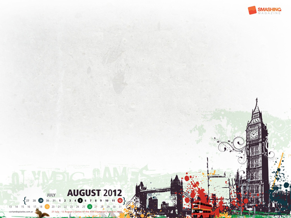 olympic games london 2012-calendar august-2012 wallpaper