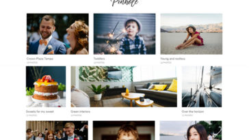 Pinhole WordPress Gallery Theme