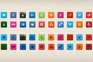Purty Social Icon Set