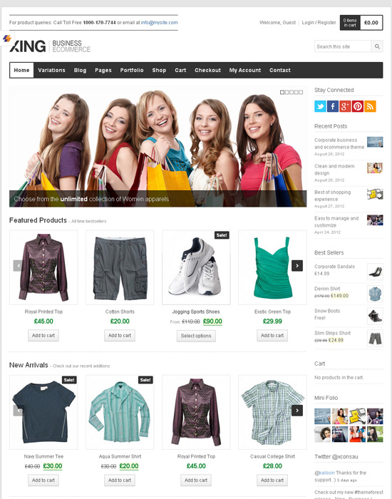 100 Best WooCommerce WordPress Themes 2017