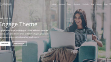 Responsive Business WordPress Themes Engage WP Theme
