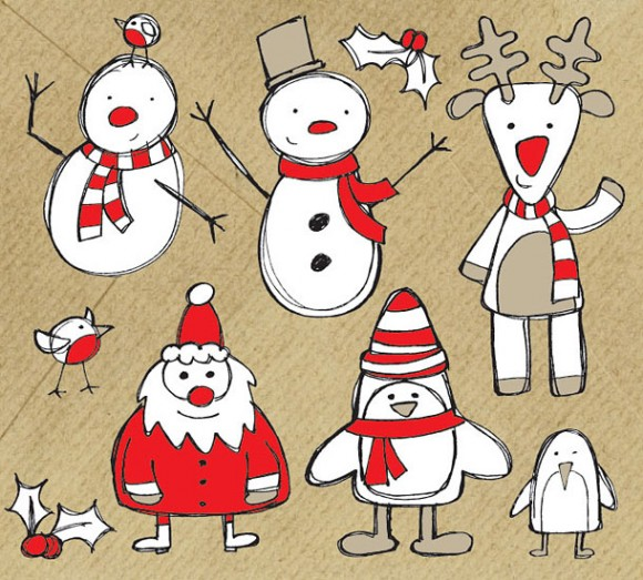 60 High Quality Free Christmas Vector Graphics