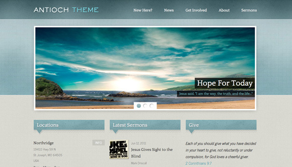 Best Church Website Templates - Church website templates