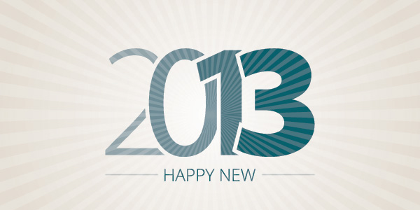 Happy New VectorBackground 2013