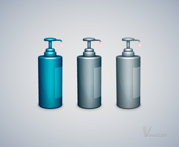 Liquid Soap Bottle Vector Illustration