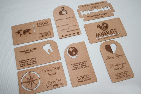 45 Creative Wooden Business Cards