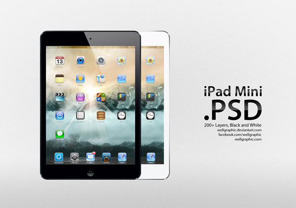 Apple iPad Mini PSD