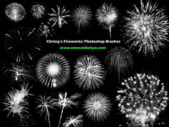 Chrissy-Firework-PS-Brushes