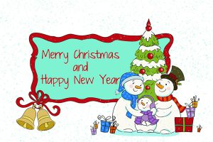 Christmas And New Year Wishes Wallpaper