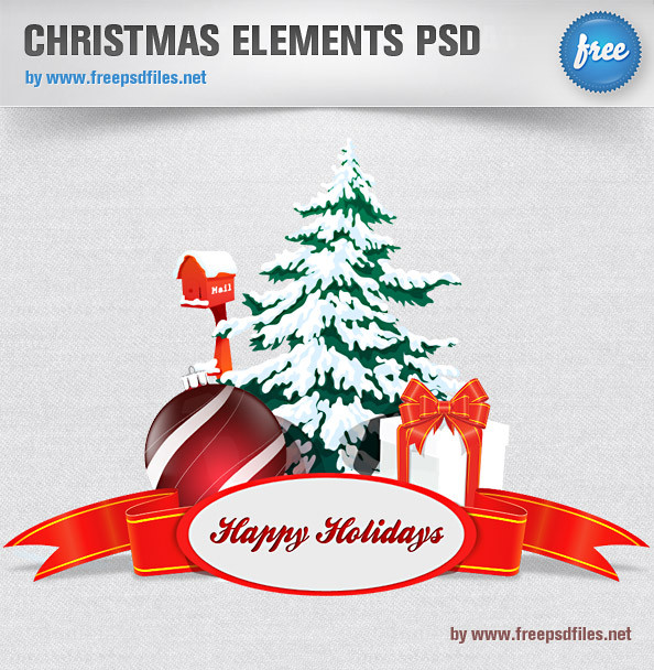 Christmas Elements PSD 2
