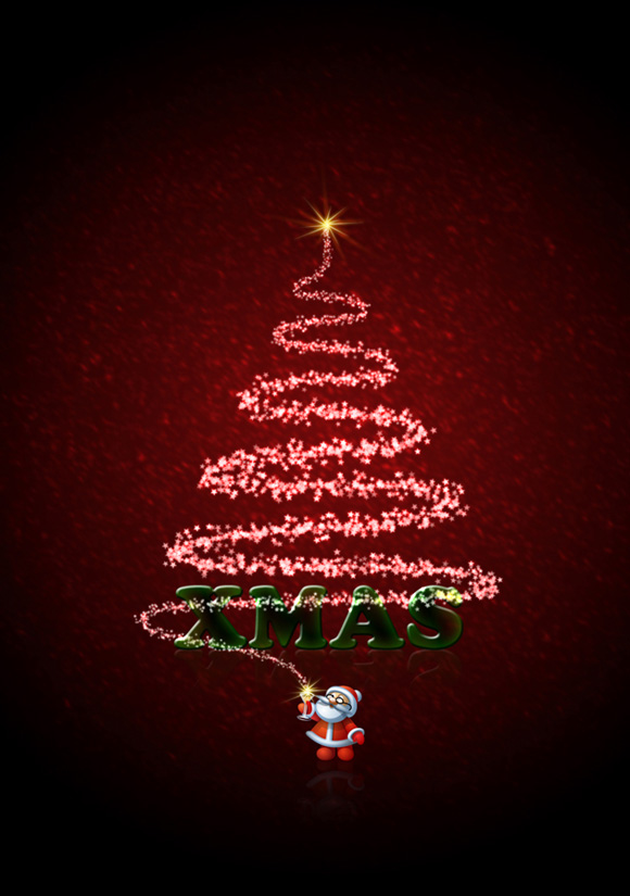 30 free psd files for create christmas cards for Christmas card psd