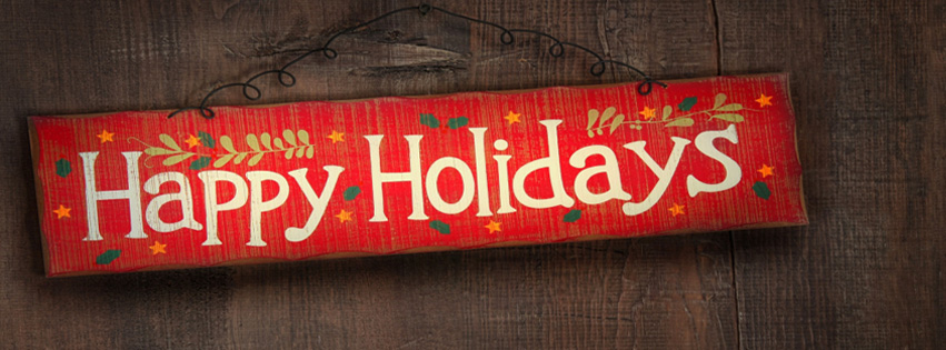 Happy Holidays facebook cover photo