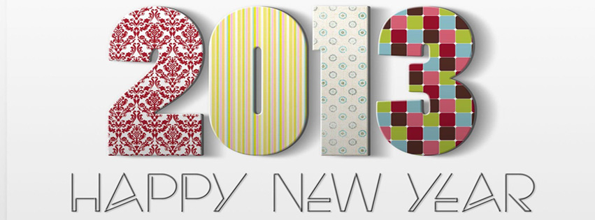 Happy New Year 2013 Facebook Cover Photo