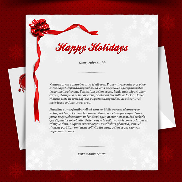 30 Free PSD Files for Create Christmas Cards – Christmas Card Letter Templates