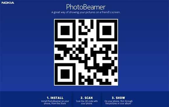 PhotoBeamer is a picture-sharing app for the Nokia Lumia 820 and Lumia