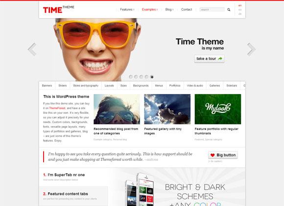 Time-wp-theme