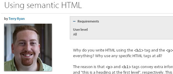 Using-semantic-HTML