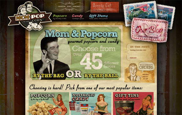 mom-popcorn-retro-website