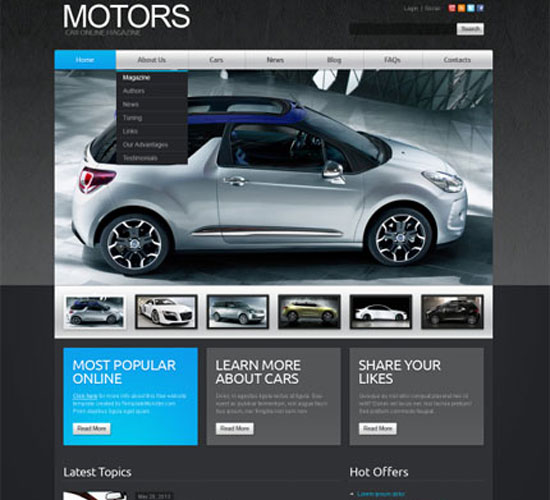 Free-Joomla-Car-Template