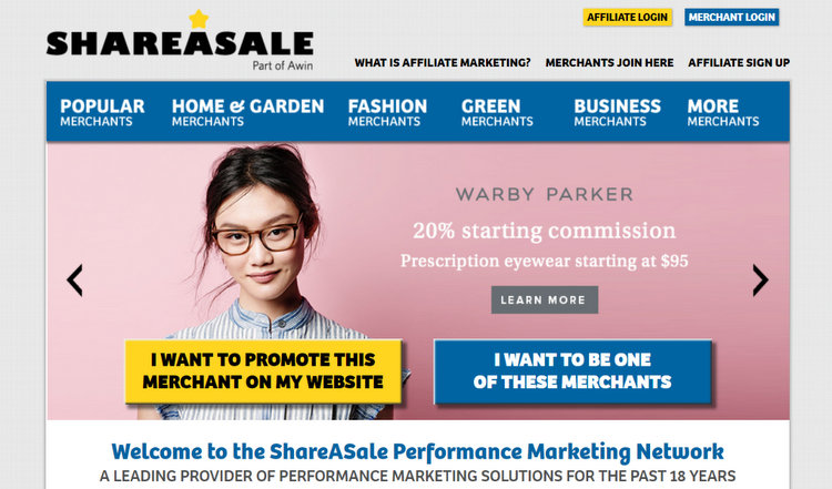 ShareASale best affiliate programs to make money