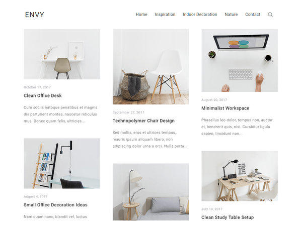 Envy Blog Free WP Theme