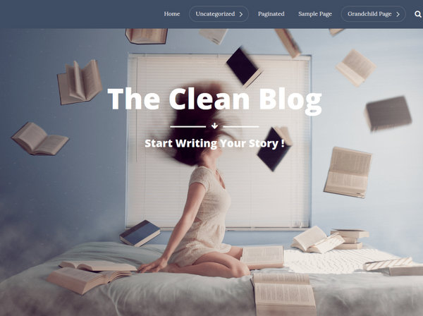 The Clean Blog Free WP Theme