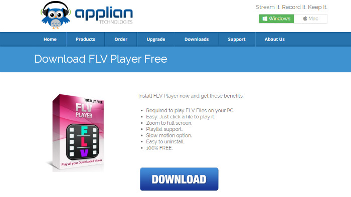 free flv player applian