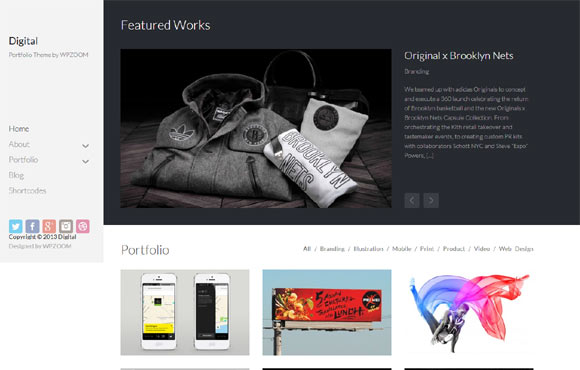 Digital-Portfolio-Theme