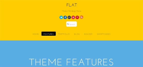 Flat-Theme-Features