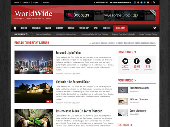 World-Wide-Blog-Medium-Right-Sidebar