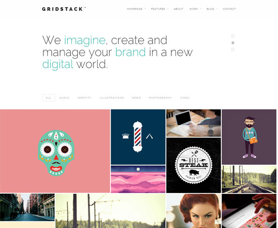 Gridstack-agency-theme