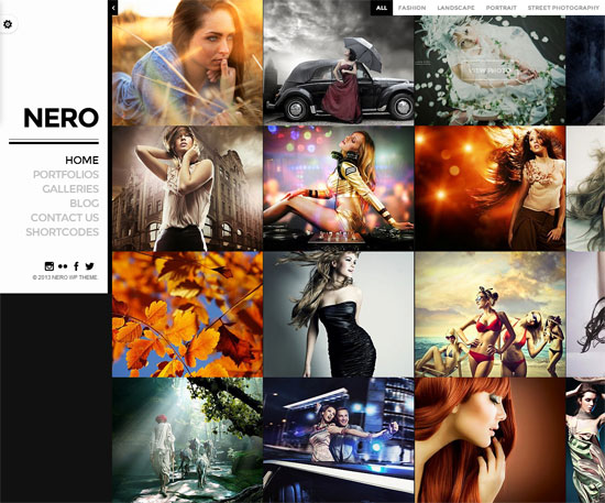 Nero-Theme Portfolio WordPress Photography