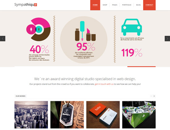 Sympathique Modern WordPress Portfolio Theme