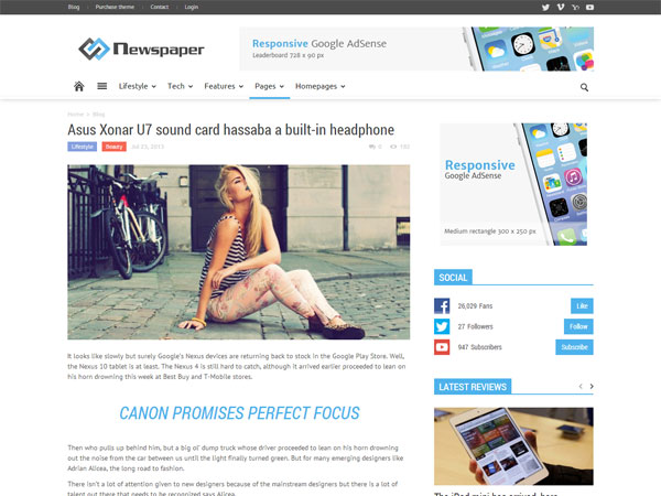 newspaper-Blog-wptheme