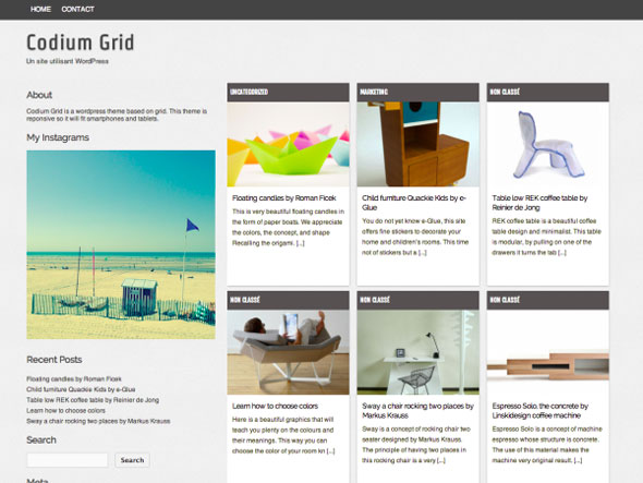 Codium-Grid Masonry WordPress Portfolio Themes
