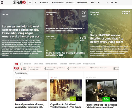Steam-wp-theme