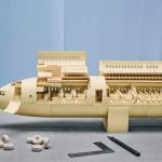 Boeing 777 Made Out of Paper Manilla Folders