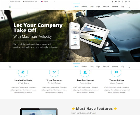 Velocity-business-theme