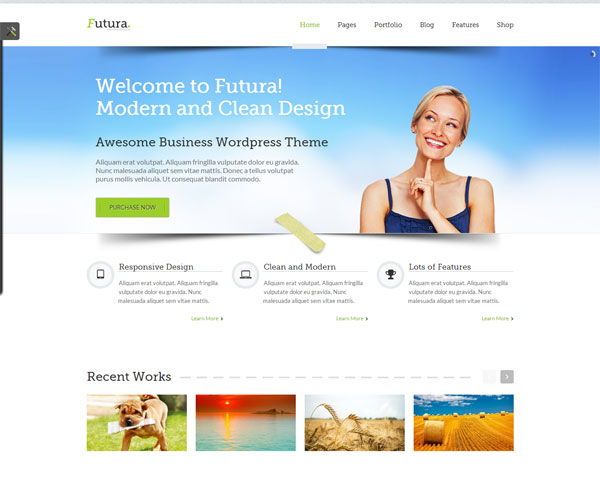 Futura-Responsive-WordPress-Theme